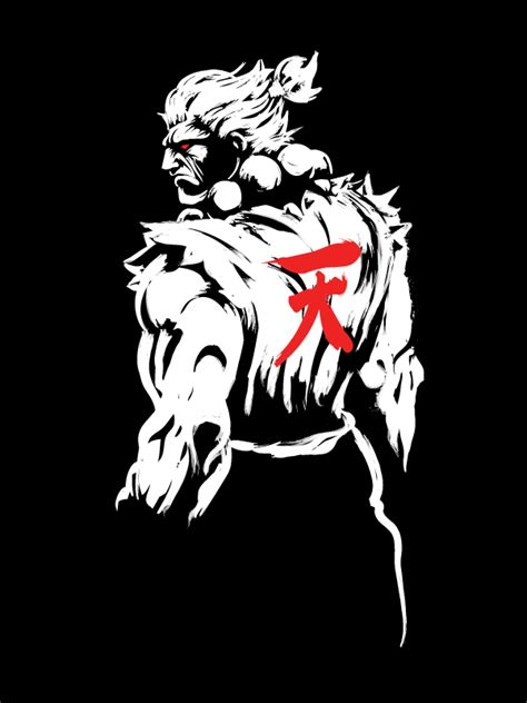 Fighter Akuma Black akuma shirt on behance