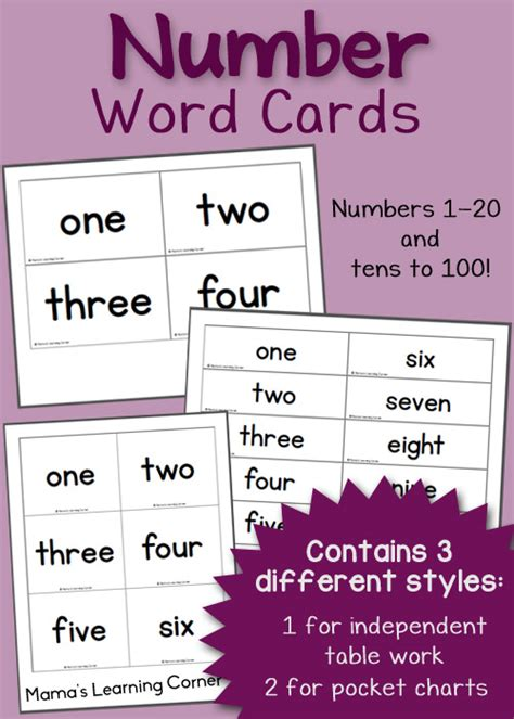 printable numbers in words 1 to 100 100 math printables and resources mamas learning corner