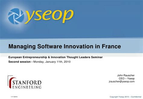 Software Engineer Stanford Mba Linkedin by Rauscher Yseop Overview Stanford Jan 11 2010