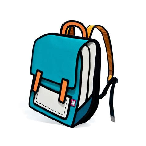bag turquoise laptop backpack jumpfrompaper cartoon bag