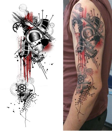 trash polka tattoo style my geometric photoshop style tattoos