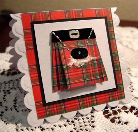Handmade Kilts - handmade card scottish kilt handmade card scottish