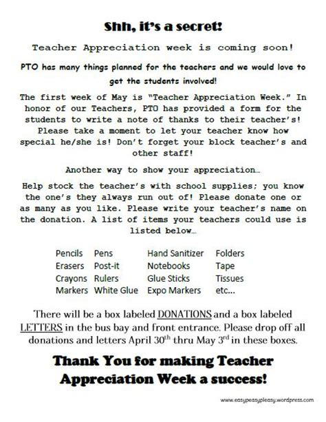 letter to teachers for appreciation week how to show appreciation in a big way easy