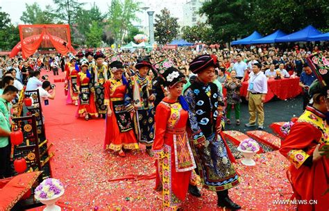 qixi festival wedding held to greet upcoming qixi festival in nw