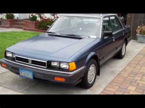 how do cars engines work 1985 honda accord security system honda accord lx 1985 we sold it youtube