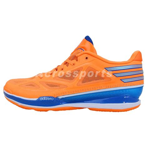 knicks basketball shoes adidas adizero light 3 low orange blue 2014 mens