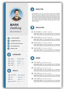 Resume Format Template For Word by 3 Free Resume Cv Templates For Microsoft Word