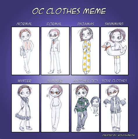 cloth meme oc clothes meme by earlyonion on deviantart