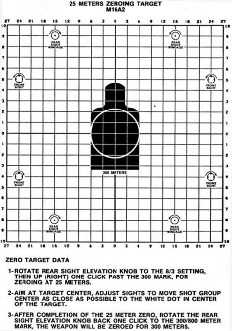 printable zero targets 25 meter targets collection 1 of 62