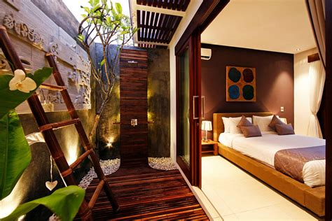 romantic modern balinese outdoor showers   chandra