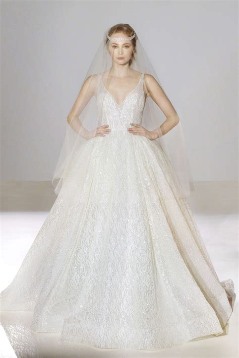 Fall Style Wedding Dresses by Lazaro Bridal Fall 2016 Style 3662 Stardust Celebrations