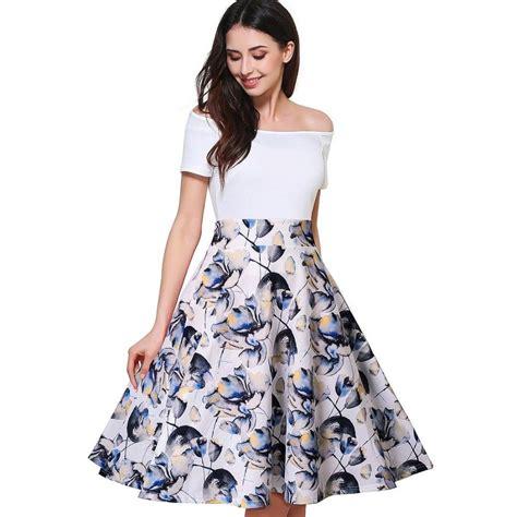 vestidos  shoulder floreados ropa de moda  mujer largos elegantes blancos ebay