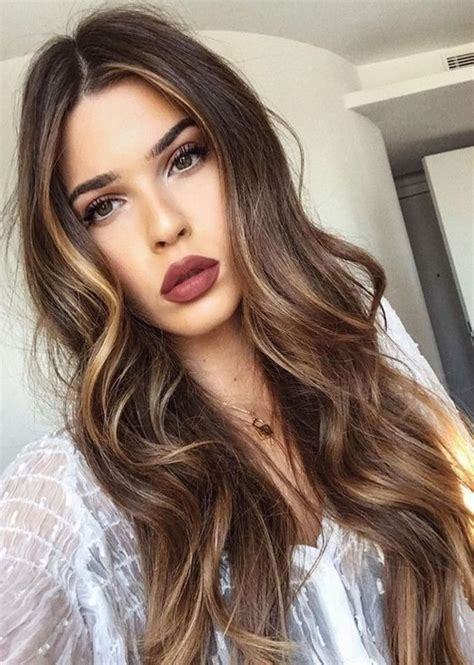 haircuts and color ideas for long hair brown hair color ideas for long length hairstyles 2018
