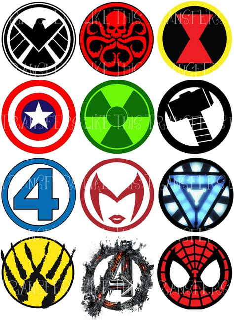 printable marvel stickers super heroes logo marvel avengers sticker wall deco ebay