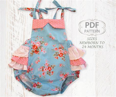 sewing pattern romper baby sewing pattern for romper pdf sewing by
