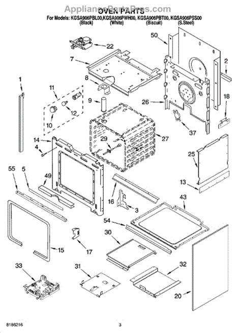 kitchenaid microwave parts diagram parts for kitchenaid kgsa906pss00 oven parts