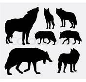 Wolf Animal Silhouettes Good Use For Symbol Icon Logo