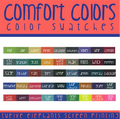 comforting colors 28 comforting colors comfort colors color swatches