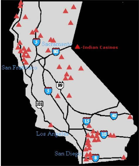 indian casinos in map northern california geocurrents