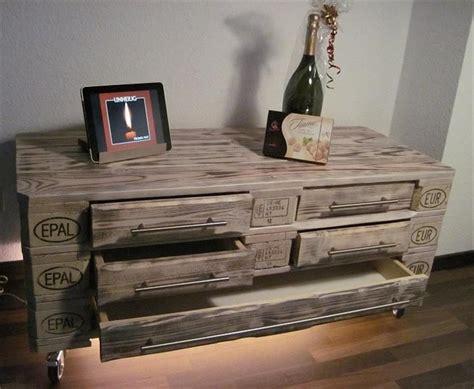 Diy 3 Euro Pallet Dresser With 5 Drawers 101 Pallet Diy Desk Drawers