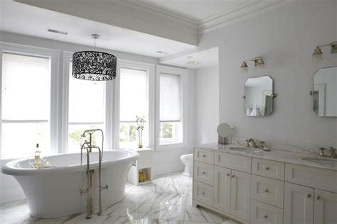 bathroom design cabinet whirlpool clawfoot best designs black cream double vanity transitional bathroom hgtv