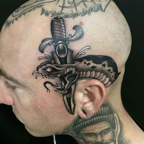 scalp tattoo designs black snake best ideas gallery