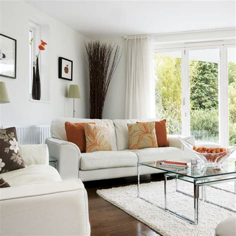 Living Room With Orange Accents by Orange Accents Living Room Housetohome Co Uk