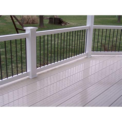 Plastic Handrail Systems 4 baluster handrail system vinyl handrail systems deck railing restore outdoor