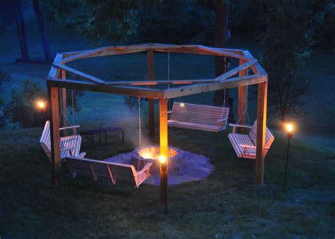 fire pit swing plans diy porch swing fire pit home design garden