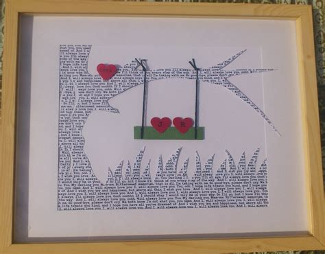 personalized wedding gift for couples song lyrics