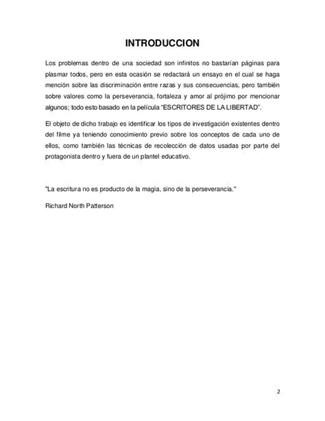 """Ensayo """"ESCRITORES DE LA LIBERTAD"""""""