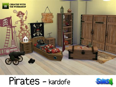 pirate bedroom set bedroom by kardofe at tsr 187 sims 4 updates