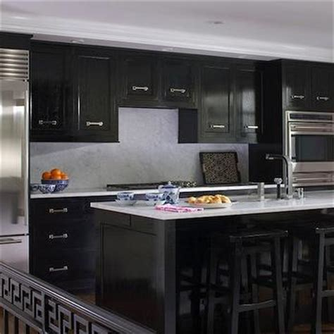 glossy black kitchen cabinets black marble countertops design ideas