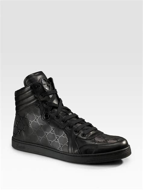 gucci sneaker gucci sneaker in black for lyst