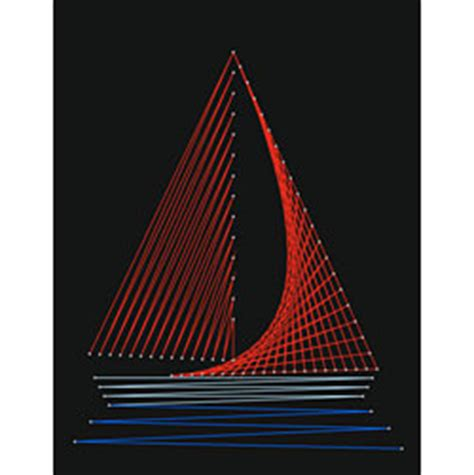 String Sailboat - string boat pattern free boys room