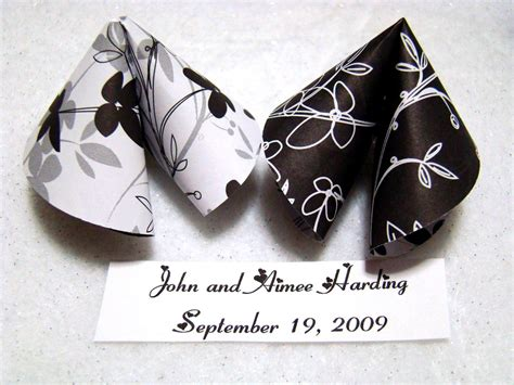 Origami Fortune Cookies - origami fortune cookies black and white by origamidelights