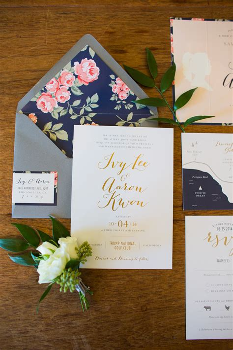 Wedding Invitations Navy And Gold by Gold And Navy Wedding Invitations Elizabeth Designs