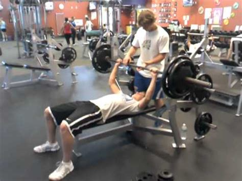 205 bench press 16 year old 205 lb max bench press youtube