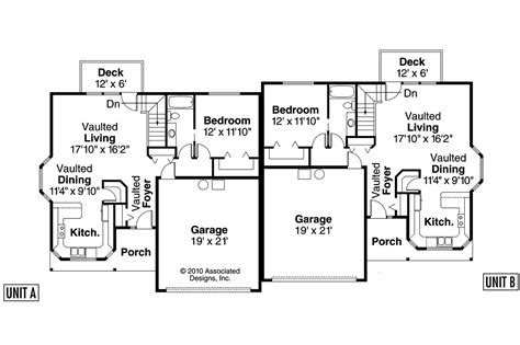 Duplex Floor Plans With Garage by Duplex Floor Plans With 2 Car Garage Inspiration Home
