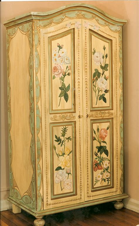 hand painted armoire furniture bonnie siracusa murals fine art