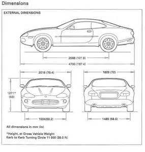 Jaguar Dimensions Vehicle External Dimensions And Weights Jaguar Xk8 And