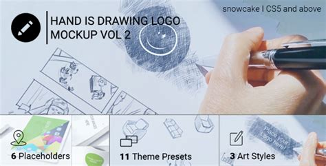 handwriting template after effects hand is drawing logo mockup volume 2 corporate after