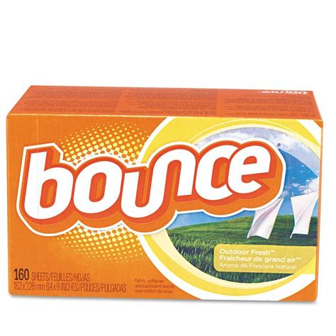 bounce dryer sheets bounce outdoor fresh scent fabric softener dryer sheets 160 count of 6 pgc80168ct the
