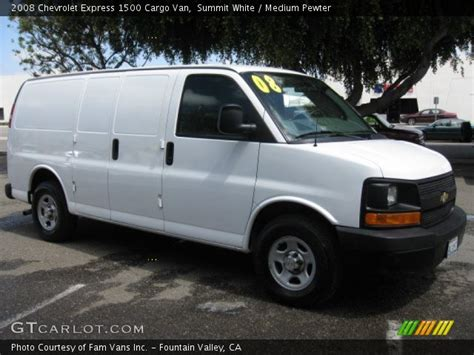 how cars run 2008 chevrolet express 1500 navigation system summit white 2008 chevrolet express 1500 cargo van