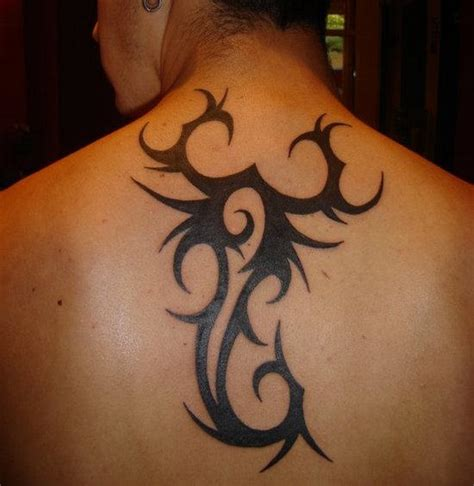 scorpion neck tattoo designs scorpio on back