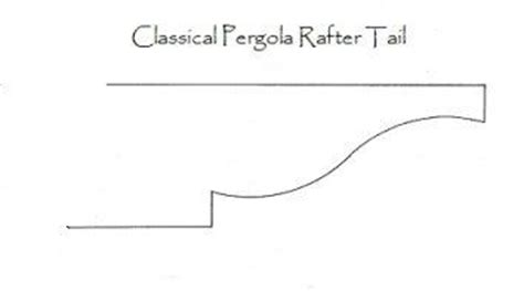 Free Customized Pergola Rafter Tails Template Based On An Original Classical Design Is Going Pergola Rafter Tails Templates