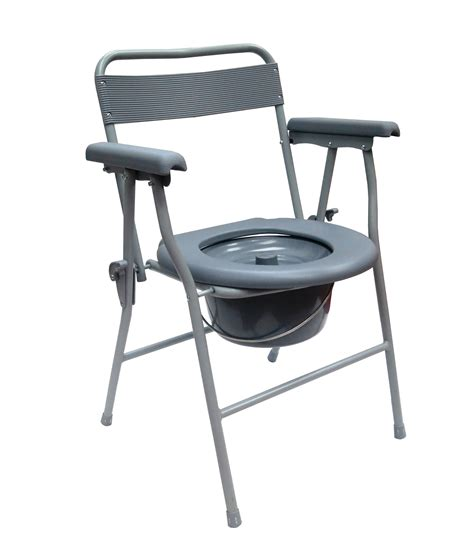 Folding Commode Chair by Esco Folding Commode Chair Epoxy Model 0400 Sd