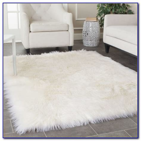 Large Fur Rugs by White Faux Fur Rug Large Rugs Home Design Ideas