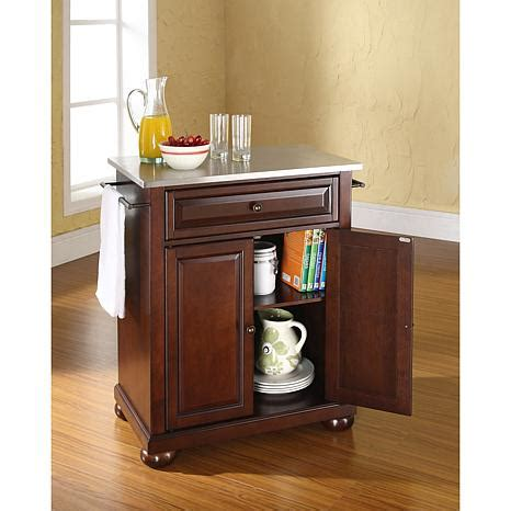 crosley furniture alexandria stainless steel top portable crosley alexandria stainless steel top portable kitchen