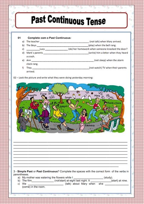 the pattern past continuous tense free worksheets 187 verb tenses worksheet pdf free math